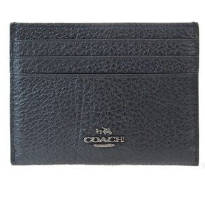 Coach 57736 Leather Credit Card Case Black